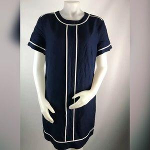 Banana Republic Short Sleeve Contrast Shift Dress